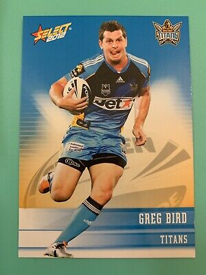 Select 2012 NRL Rugby League Card Gold Coast Titans #56 Greg Bird