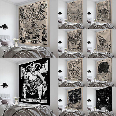 Tarot Tapestry Sun Divination Wall Hanging Mysterious Art Home Decor Decoration