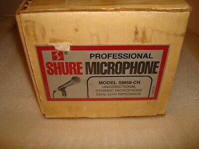 Vintage Shure SM58 Microphone Original Box Made in USA