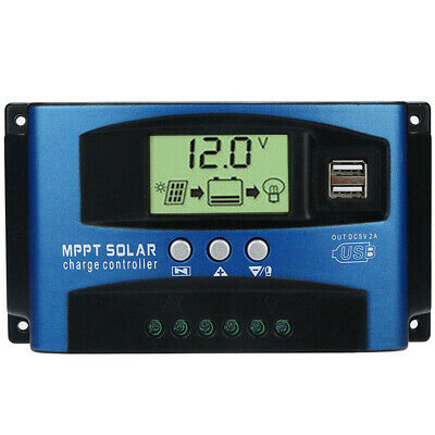 100A MPPT Solar Panel Regulator Battery Charger Controller 12/24V With LCD USB