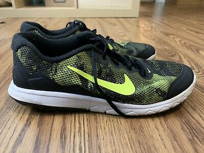 Nike Flex Experience RN 4 Men's Shoes Size 8.5 Black Yellow  Running 749174
