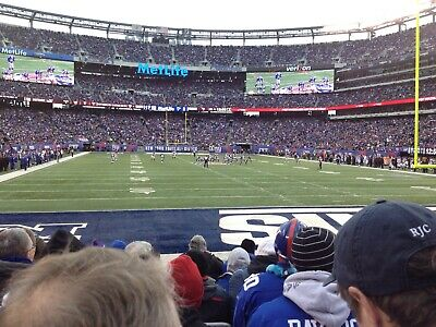 2 Tickets New York Giants Tickets vs Green Bay Packers  12/1/19 - 7th Row