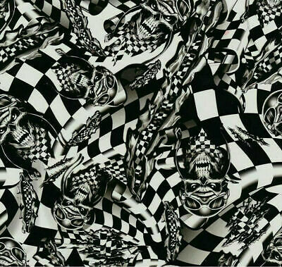 Death race hydrographic film hydro dipped 100cm width, various lengths Folded
