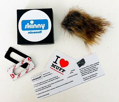 OFFICIAL MICROMUFF SKINNY microphone windshield. Direct from manufacturer - UK
