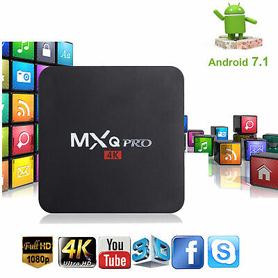 New MXQ PRO Quad Core Android 7.1 Smart TV Box 1+8GB HDMI WIFI 4K Media Streamer