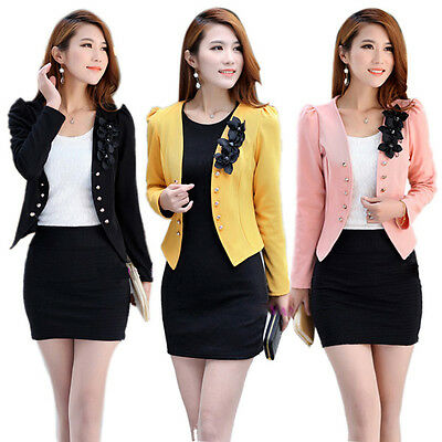 2019 Fashion Korean Style Women Slim Suit OL Blazer Coat Jacket S M L XL XXL Hot