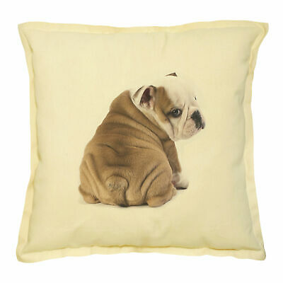 Lovely Pug Puppy Printed Khaki Decorative Throw Pillows Cushion Case VPLC/_02