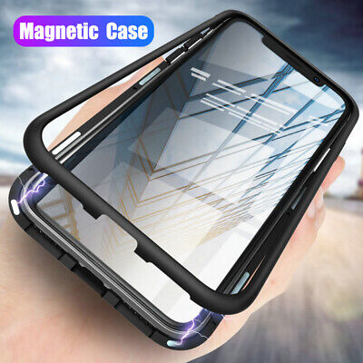 Magnetic Metal Tempered Glass Hybrid Case Cover for Samsung Galaxy Note 10 Plus