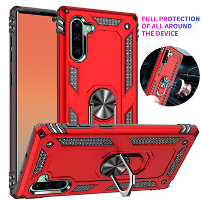 Shockproof Armor Magnetic Ring Stand Case Cover for Samsung Galaxy Note 10 Plus