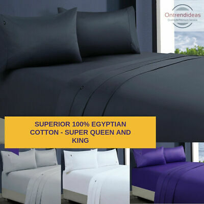 1200TC 100% Superfine Egyptian Cotton Sheet Set Ramesses Sheets California King