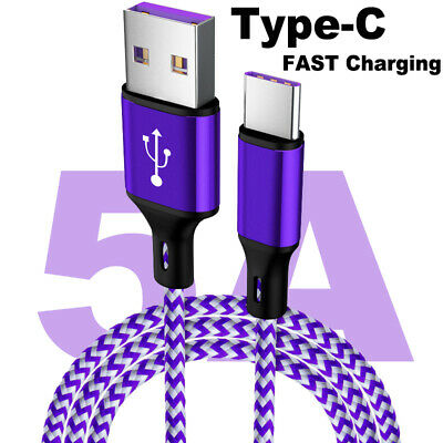 5A Super Fast USB Cable for Huawei Xiaomi Quick Charge 3.0 Type C Charging Cable