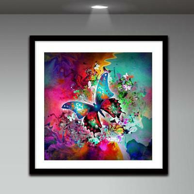 UK Color Butterfly Full Drill 5D Diamond Embroidery Painting Cross Stitch Kit CX