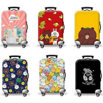 Cute Travel Suitcase Cover Elastic Luggage Trolley Case Dust Cover Anti Scratch