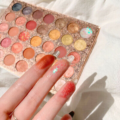35 Colors Matte Pearlescent Glitter Sequins Eye Shadow Palette Make Up Eyeshadow