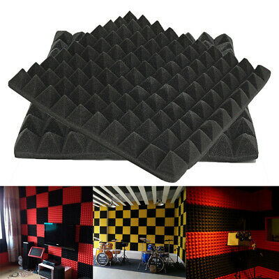 50x50x5cm Pyramid Acoustic Foam Tile Studio Soundproof Treatment Sponge Set