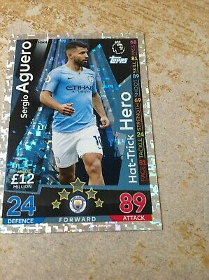 Match Attax Extra 2018/19 Sergio Aguero Manchester City  Hat Trick Hero