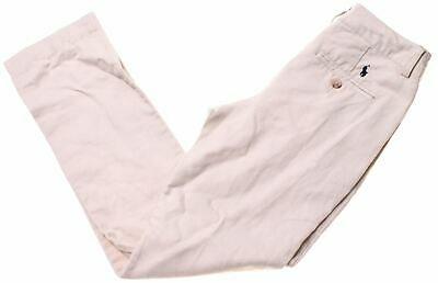 POLO RALPH LAUREN Boys Chino Trousers 9-10 Years W26 L26 Beige Cotton  CN07