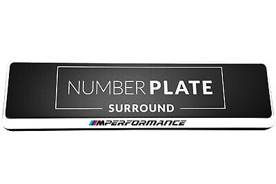 1 x Prestige White Stainless Steel Number Plate Holder for any BMW M Performance