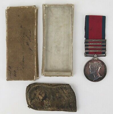 Queen Victoria Military General Service Medal, Peninsular War 4 clasps 9th Regt.
