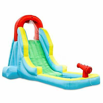 Sunny & Fun Deluxe Inflatable Water Slide Park- Heavy-Duty Nylon for Outdoor Fun