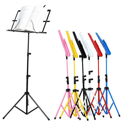 Music Holder Music Note Stand Sheet  Lightweight Adjustable Foldable + Carry Bag