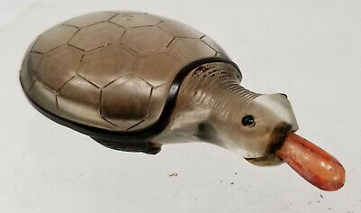 Antique Chinese Peking Glass Carved Snuff Bottle Inside Reverse Painted Turtle