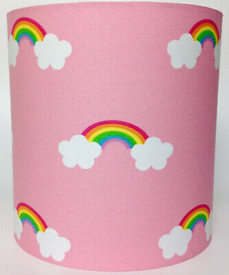 Pink Rainbow Fabric Light Shade
