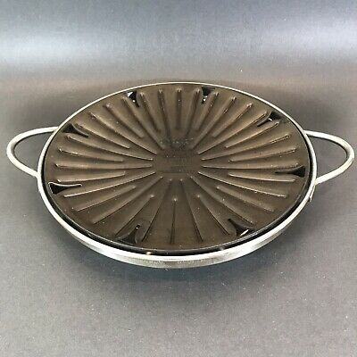 "Circulon Stove Top Grill w Drip Pan Indoor Grilling 12"" Grill H0096 Meyer"