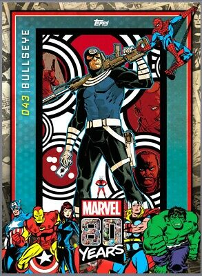 MARVEL 80 YEARS, Bullseye Celebration variant, Topps Marvel digital 2019