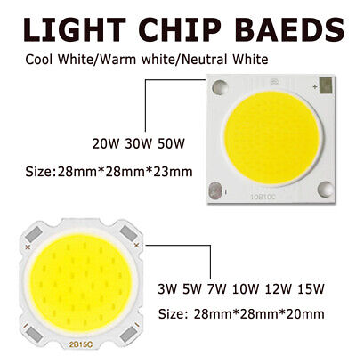 3W 5W 7W 10W 12W 15W Round COB LED Chip 20MM Hight Power Super Bright Wholesale