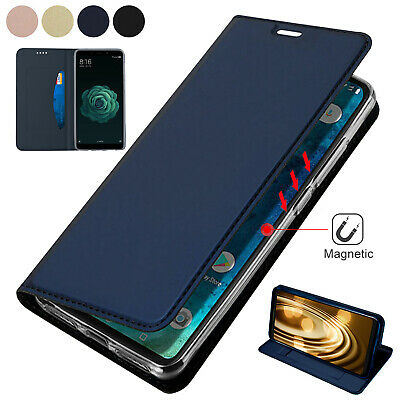 For Samsung Galaxy Note 10 Plus Case Retro Magnetic Leather Card Slot Slim Cover