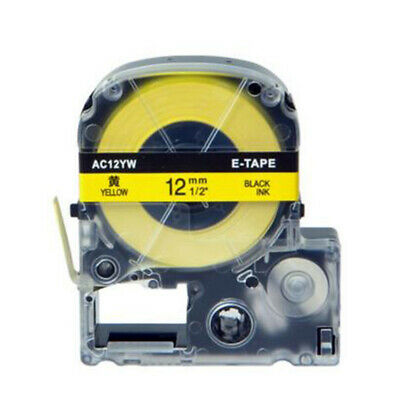 Accessory Label Tape Labeling For EPSON label AC12YW(LC-4YBP) 12mm*8m Durable