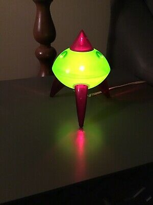 Vintage UFO Spaceship Desk Lamp Mid century, Kids Night Lamp, Alien Lamp