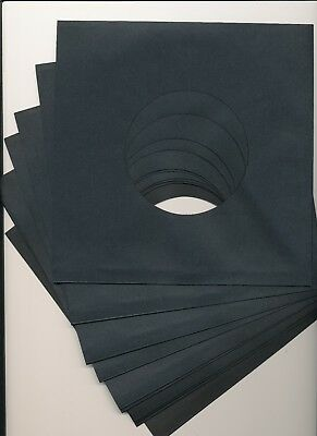 """7"""" BLACK PAPER RECORD SLEEVES - (pack of 50) superb quality!!!"""