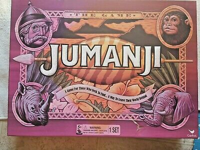 JUMANJI BOX BOARD GAME Full Sized CARDINAL 2017 EDITION, complete
