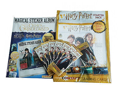 Harry Potter Contact Trading Card Starter Pack Plus Album And 6 Packets