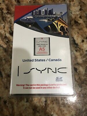 Latest Update Ford Lincoln Navigation Sync A5 SD Card Map 2011 2012 2013 2014 MK