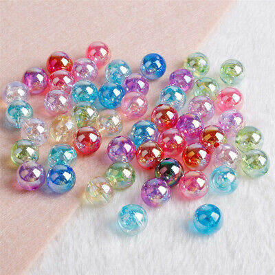 Bracelet With Hole Jewelry Making Loose Spacer Beads  Acrylic Bead For 50pcs