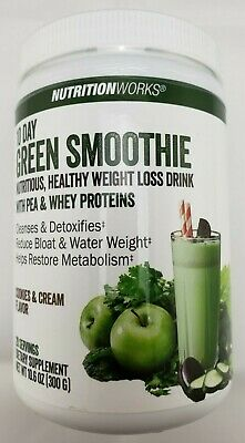 Nutritionworks 10 Day Green Smoothie Drink Mix Cleanse Detox Supplement Cookies