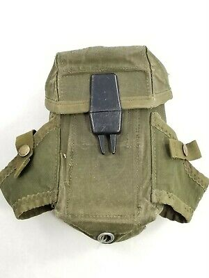 Vietnam Era Military Issue Small Arms Ammo Magazine Pouch with Alice Clips A1