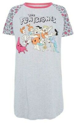 PRIMARK Ladies Girls THE FLINTSTONES Nightdress Nightie Nightshirt Pyjama Shirt