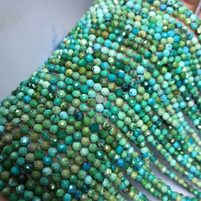 1pcs 3mm Turquoise Round Section Loose Bead 15 inches Hole Gemstone Styles