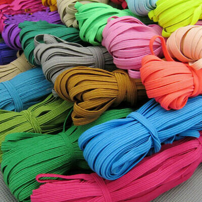 10M 6MM Multicolor Satin Elastic Band Sewing Trims DIY Sew Craft Accesories