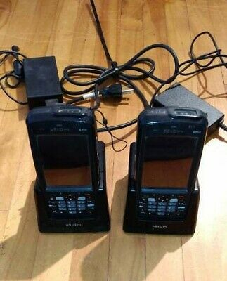 UNTESTED*LOT 2x PSION EP10 BARCODE WIRELESS SCANNER+CRADLE DOCK CHARGERS RV4000