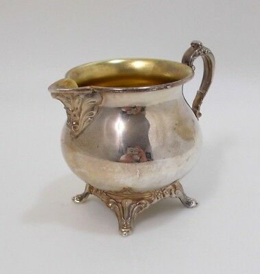 Oneida Shiny Silver Plated Footed Creamer