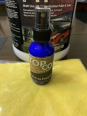 F11 TopCoat -ONE 2oz F11 Bottle & (1)  Microfiber Towel.