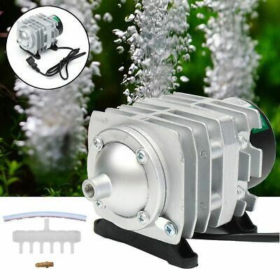 Pond Pool Fish Tank Supply Electromagnetic Air Compressor Aquarium Oxygen Pump
