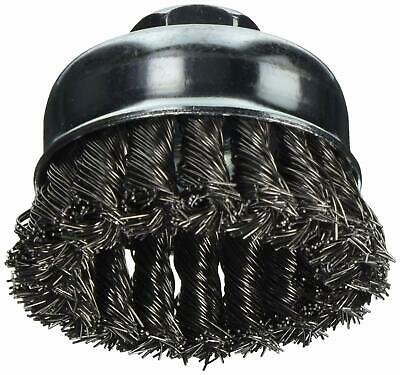 "Vermont American 16830 2-3/4"" Knotted Wire Cup Brush with 5/8-Inch Arbor"