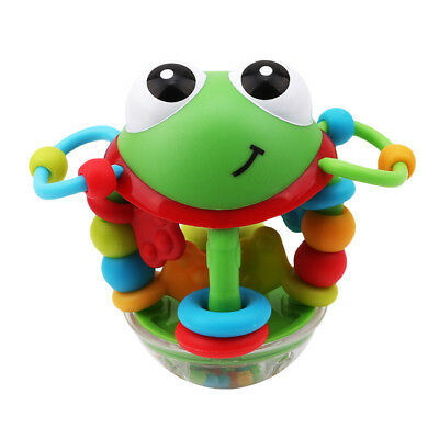 Colorful Baby Infant Animal Musical Handbell Rattle Ball Teether Activity Toy WL