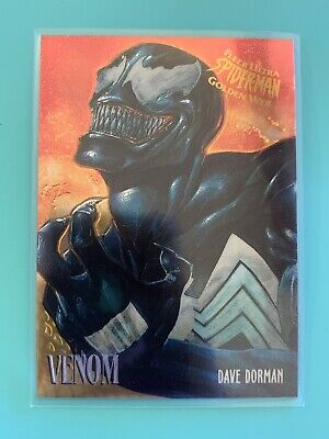 Fleer Ultra Spider-Man Golden Web Limited Edition Card #8 Venom